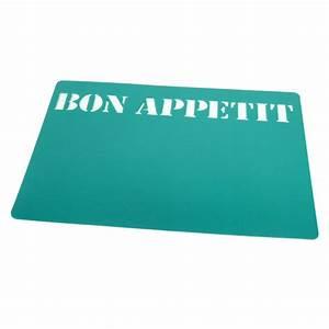 Set De Table Bleu : 4 set de table bon appetit vert maison fut e ~ Teatrodelosmanantiales.com Idées de Décoration