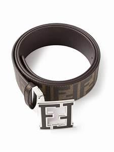Fendi Zucca Belt in Brown for Men | Lyst