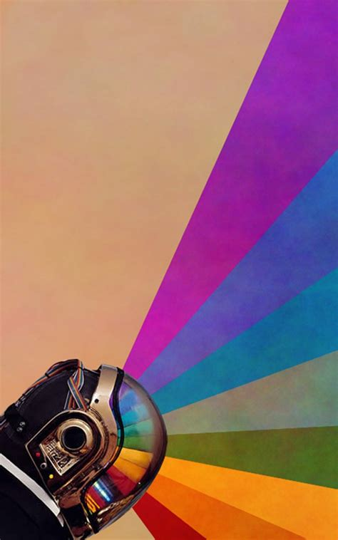 Daft Punk Rainbow Android Wallpaper free download