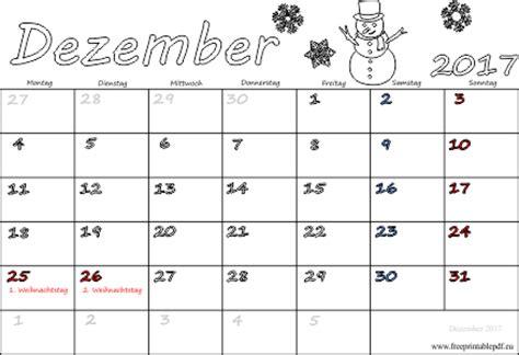 monatskalender dezember  ausdrucken  drucken