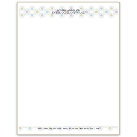 business letterhead template word
