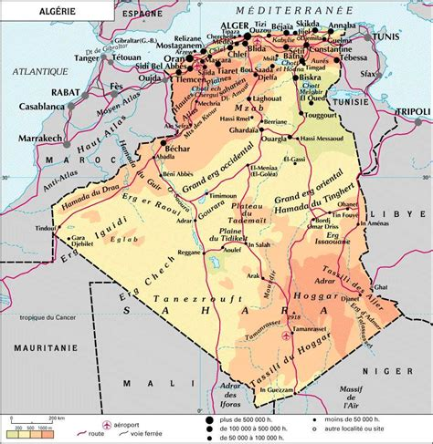 Carte Algerie Villes by Algerie Carte