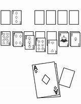 Solitaire Coloring Template Pages sketch template