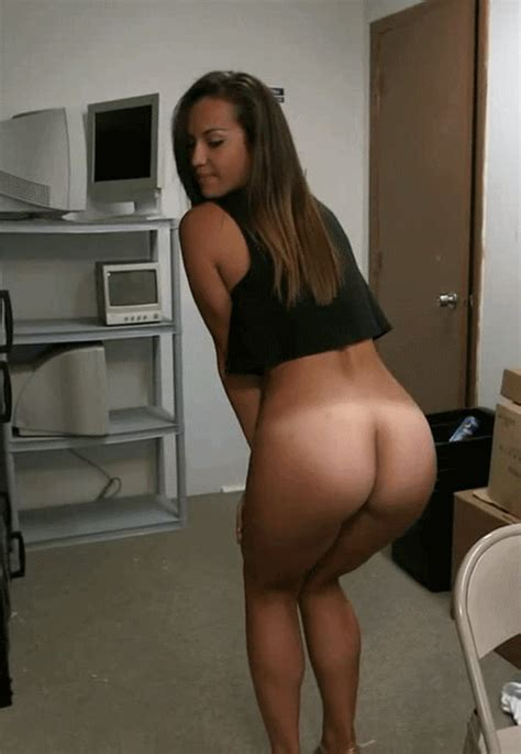 Sexy Ass Tanlines Brunette Office Smutty
