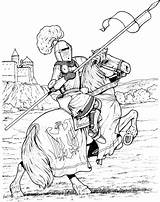 Coloring Pages Knight Horse Knights Guard Medieval Printable Castle Cartoon National Colouring Fantasy Clydesdale Castles Sheets Stall Sheet Getcolorings Adult sketch template