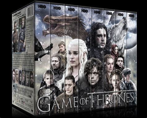 game  thrones season   custom dvd cover set