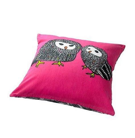 ikea black and white pillow ikea gulort owl cushion cover pillow sham pink black white