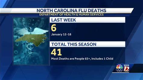 north carolina flu death total passes     season