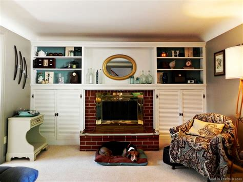 Built In Bookcase Around Fireplace by The House Fireplace And Built Ins In Crafts