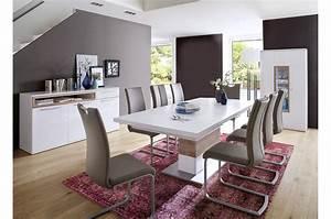 Ensemble Salle A Manger : salle manger design blanche et d cor bois cbc meubles ~ Melissatoandfro.com Idées de Décoration