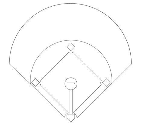 baseball field template printable baseball diagram