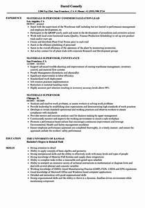 Materials Supervisor Resume Samples