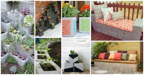easy decorative garden projects  cinder blocks