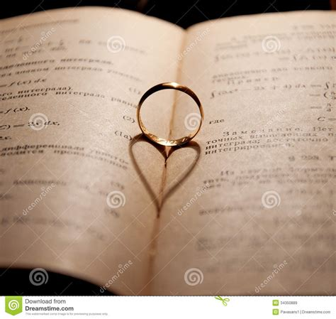 engagement ring and the book royalty free stock images image 34350889