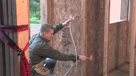 Rough Electrical Wiring Sip Home Youtube