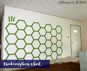 Hometalk how to tape paint hexagon patterned wall for Kitchen cabinets lowes with canvas mason jar wall art