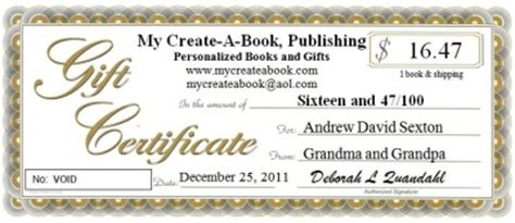 gift certificates personalized childrens books