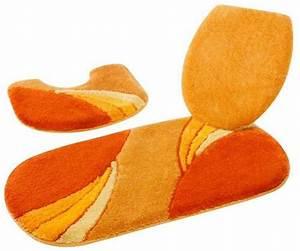Badgarnitur Set Stand Wc : 3 tlg badgarnitur 50 x 90 orange terra badteppich stand wc vorleger badmatte ebay ~ Indierocktalk.com Haus und Dekorationen
