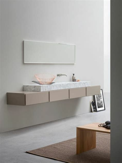 meuble sous vasque a poser la vasque 224 poser rectangulaire en 67 photos inspirantes archzine fr