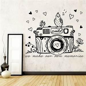 Wall art ideas design camera vinyl sample bird