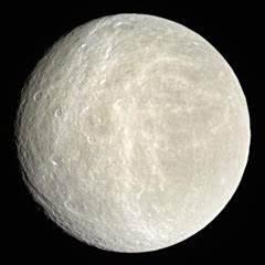 Rhea, moon of Saturn - The Solar System on Sea and Sky