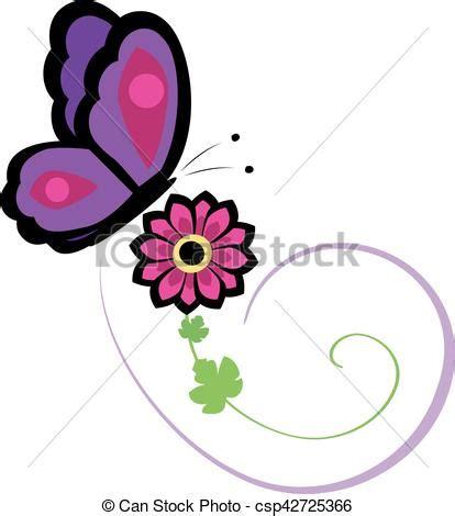 Borboleta flor vetorial Feito ilustração vectors