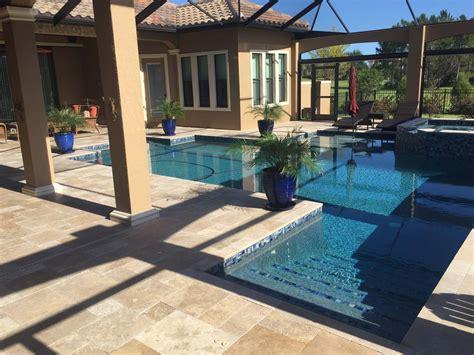 unique paver pool deck elite pavers  tampa bay