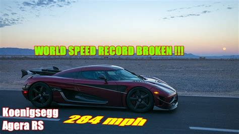 Koenigsegg Agera Rs Top Speed by Koenigsegg Agera Rs Become The World S Fastest Top Speed