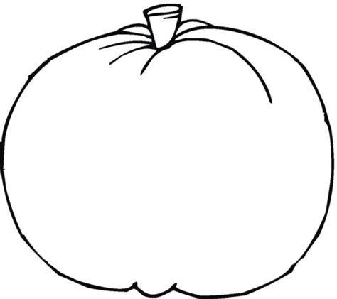 blank pumpkin coloring page  printable coloring pages
