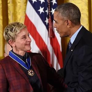 President Obama Awards Comedienne EllenDegeneres ...