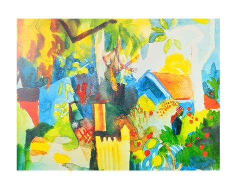 Kunstdrucke Bestellen by August Macke Landschaft Poster Kunstdruck Bei Germanposters De