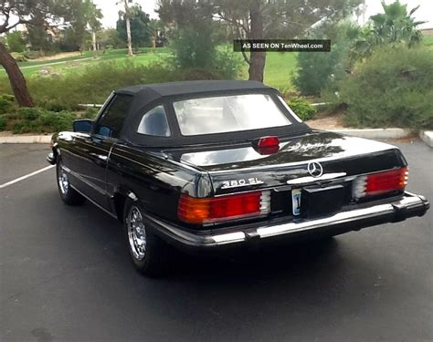 convertible mercedes black 1985 black mercedes benz 380sl convertible