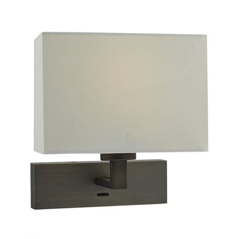 hotel style over bed wall light bronze frame and ivory