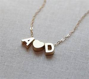 602 best initial necklace images on pinterest initials With letter chain necklace
