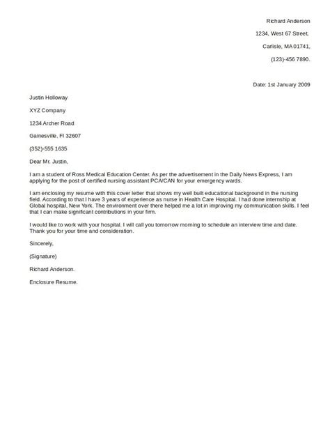 cover letter letters free sle letters