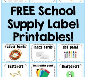 school supply labels free printables 1 1 1 1 free homeschool curriculum supply labels and