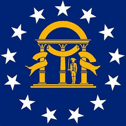 Georgia Flag State Flags Stencil Emblems