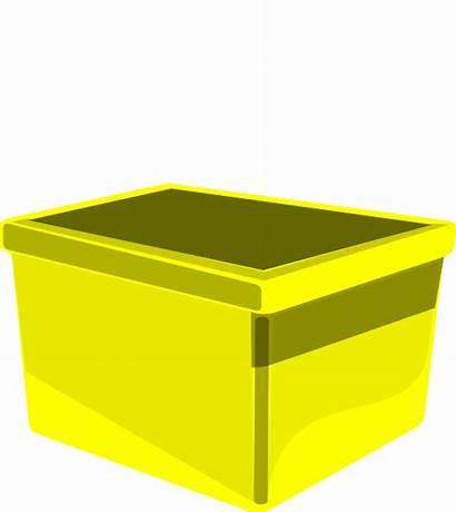 Bin Box Clipart Storage Clip Yellow Transparent