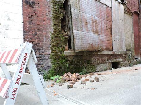 rear  downtown wheeling building   razed