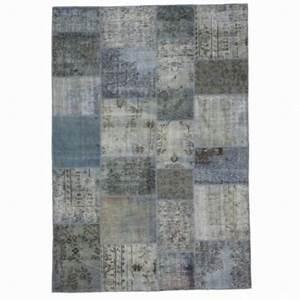 Grau Blau Farbe : grau blau vintage patchwork teppich 210x303cm ~ A.2002-acura-tl-radio.info Haus und Dekorationen