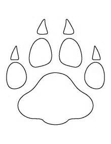 Leopard Paw Print Template Printable