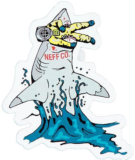 cuisine neff neff shark food sticker