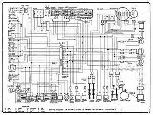 Complete Electrical Wiring Diagram Of 1978 Honda Cx500