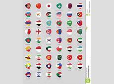 Asia flags badge stock vector Image of korea, indonesia
