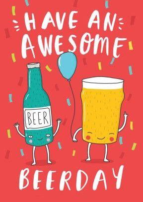 happy beerday birthday card bc design deseos de