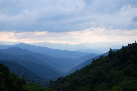 Mountains and Hills Landscape at Great Smoky Mountains ...