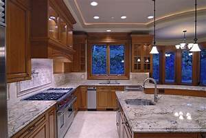 Pendant lighting ideas for kitchen : Contemporary high end natural wood kitchen designs