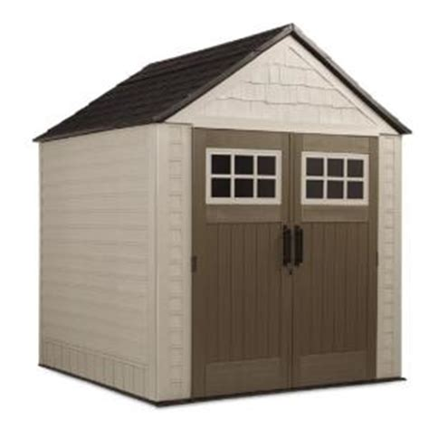 Rubbermaid 7x7 Shed Home Depot rubbermaid 7 ft x 7 ft big max storage shed 1887154