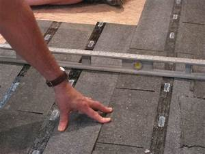how to level a plywood or osb subfloor using asphalt With how to level an uneven floor