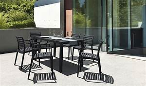 beautiful table de jardin pvc marron gallery awesome With repeindre un salon de jardin en pvc